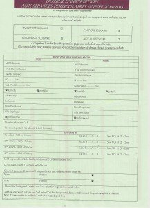 dossier d'inscription aux services périscolaires 2014/2015 du SIIS
