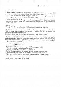 COMPTE RENDU DU CONSEIL D'ECOLE N°2